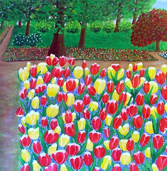 obraz na płótnie - tulipany